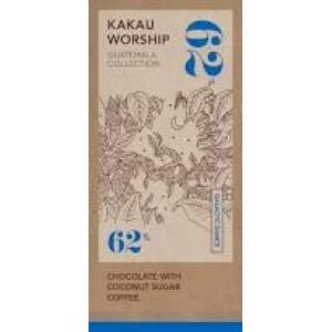 KAKAU ΧΕΙΡΟΠΟΙΗΤΗ ΜΑΥΡΗ ΣΟΚΟΛΑΤΑ 62% GUATEMALA WITH COCONUT SUGAR COFFEE ΒΙΟ 75 γρ.