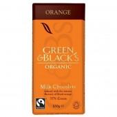 GREEN & BLACK'S ΣΟΚΟΛΑΤΑ ΓΑΛΑΚΤΟΣ ΜΕ ΑΡΩΜΑ ΠΟΡΤΟΚΑΛΙ ΣΑΓΚΟΥΙΝΙ ΒΙΟ 100 γρ.