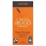 GREEN & BLACK'S ΣΟΚΟΛΑΤΑ ΜΑΥΡΗ ΜΕ ΚΡΥΣΤΑΛΛΟΠΟΙΗΜΕΝΑ ΚΟΜΜΑΤΑΚΙΑ ΤΖΙΝΤΖΕΡ ΒΙΟ 100 γρ.