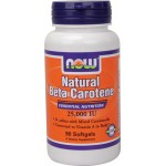 NOW NATURAL BETA CAROTENE 25,000 IU, 90 Softgels