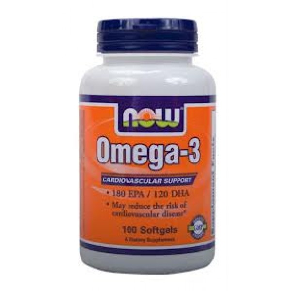 NOW OMEGA 3, 100 softgels