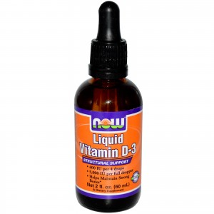 NOW VITAMIN D-3, LIQUID 5000IU, 60 ml