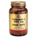 SOLGAR VITAMIN C 500 mg with Rose Hips, 100 tabs