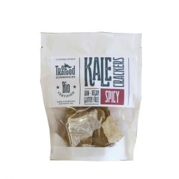 TROO FOOD RAW KALE CRACKERS SPICY ΒΙΟ 50 γρ.